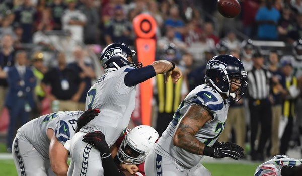 Russell Wilson in action